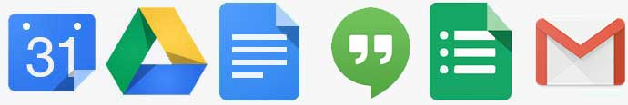 Google G Suite Icons