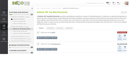 Top Directories SEO Tutor.