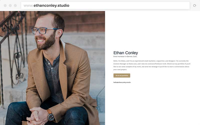 Ethan's One-Page Website