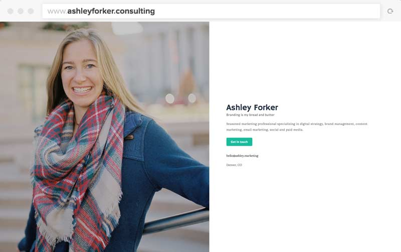 Ashley's One-Page Website