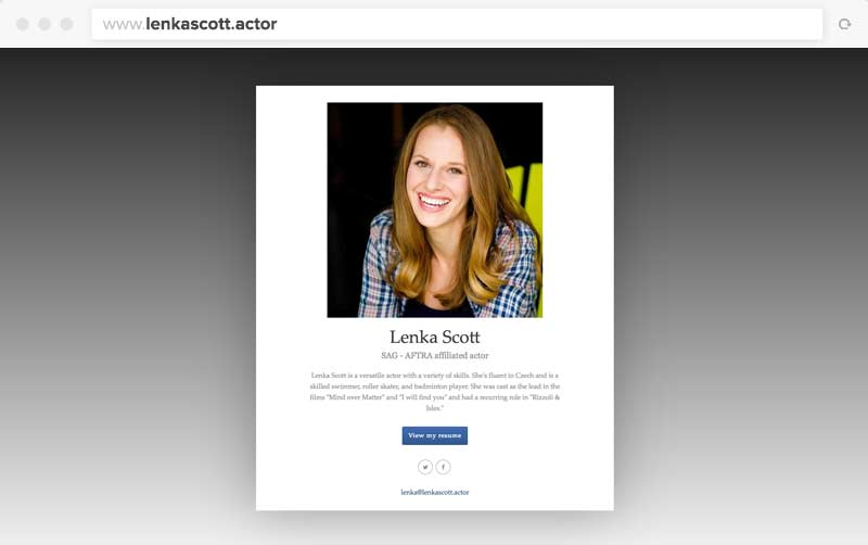 Lenka's One-Page Website